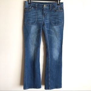 HARLEY DAVIDSON Studded Bootcut Flap Pocket Jeans